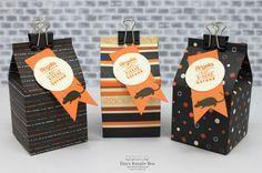Halloween Woche – Mini Milchkarton - mit Produkten von Stampin' Up!