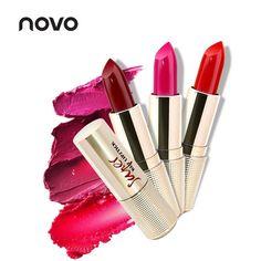 NOVO Brand Lip Makeup Nourishing Smooth Matte Lipstick Lip Stick Tint Tattoo Nude Waterproof Long Lasting Make Up Cosmetics Set