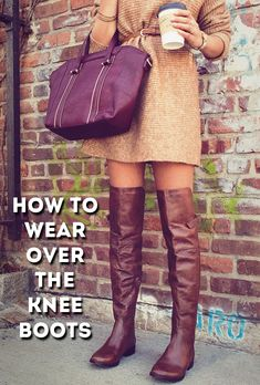 How to Wear Over the Knees Boots as a Petite