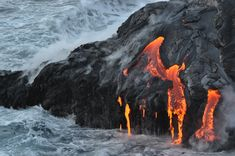 Two Ocean Entry Points Remain Active Near Kupapa'u Point, Near The Boundary Of Hawaii Volcanoes National Park