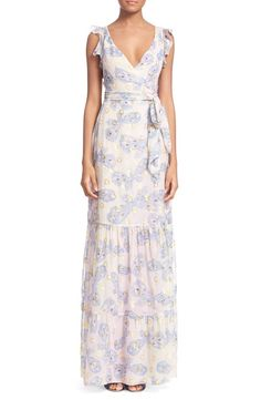 Diane von Furstenberg Diane von Furstenberg 'Stephanie' Butterfly Print Silk Maxi Dress available at #Nordstrom