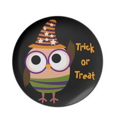 Halloween Owl Trick or Treat Plates