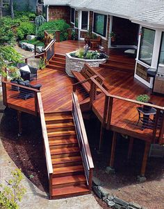 Are you thinking of how to build outdoor deck plans to beautify your outdoor living spaces? I have here how to build outdoor deck plans living spaces ideas. Patio Deck Designs, Patio Design, Deck Skirting, Diy Deck, Deck Plans, Outdoor Living, Outdoor Decor, Outdoor Spaces, Outdoor Decking