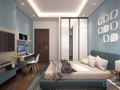 Thiết kế nội thất phòng ngủ theo phong cách hiện đại - Căn hộ Hoàng Anh Thanh Bình.  #thietkenoithat #thicongnoithat #noithat #phongngu #interior #design #decor #homedecor #house