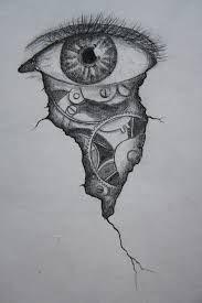 Znalezione obrazy dla zapytania cracked clock drawing