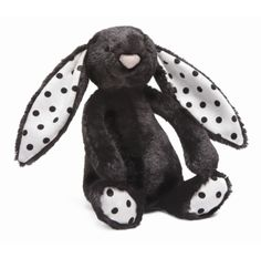 """LOVE Jellycat! G has the medium woodland bunny so I'm pretty sure baby girl needs a bunny too. Just ordered her this one: bashful treacle bunny rattle. Only 6"""" high so perfect for little babies AND I remember that newborns like to look at highly contrasting colors i.e. Black and white. $12.95 from Amazon :)."""