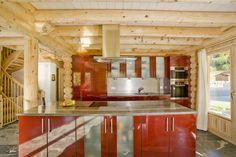 Honka Blockhaus Modell Alpine Chalet Küche