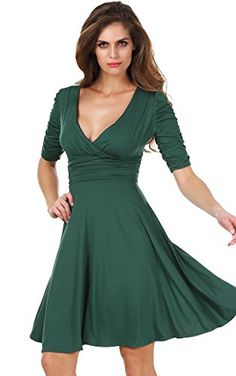 Meaneor Women's Short Sleeve Knee-Length Bridesmaid Mother of the Bride Dress Green M Meaneor http://www.amazon.com/dp/B00Y2SIQ3O/ref=cm_sw_r_pi_dp_LWzYvb0568XMA