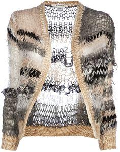 beautiful version of odd ball knitting Knitwear Fashion, Crochet Fashion, Knit Art, Crochet Wool, How To Purl Knit, Knitting Designs, Knitting Projects, Hand Knitting, Knit Cardigan