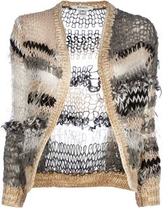 RODARTE Loose knit cardigan
