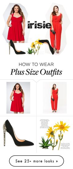 """Irisie-Plus size"" by irisiecollection on Polyvore featuring Cerasella Milano"