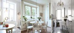 Круглый стол в интерьере кухни диаметром 90-100 см