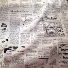 The NEWS Kei Japan newsprint black & white text by PatternCrush, $4.25