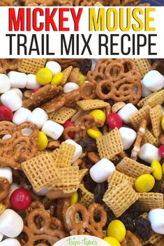 Need a Disney inspired snack to pack for your next road trip or flight to a Disney destination? Try this simple sweet and salty Mickey Mouse trail mix. Trail Mix Recipes, Snack Mix Recipes, Wine Recipes, Disney Inspired Food, Disney Food, Disney Theme, Disney Diy, Disney Cars, Mickey Mouse Snacks