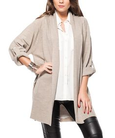 Another great find on #zulily! Stone Dolman Cardigan #zulilyfinds
