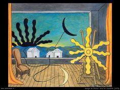 Giorgio de Chirico - luglio 1973 Sole sul cavalletto (Roma, Fondazione Giorgio e Isa de Chirico)
