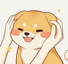 Drawing Animals Kawaii Anime 47 New Ideas - Animaux Cute Dog Drawing, Cute Animal Drawings, Kawaii Drawings, Cartoon Drawings, Cute Drawings, Drawing Animals, Drawing Style, Cute Kawaii Animals, Kawaii Cute