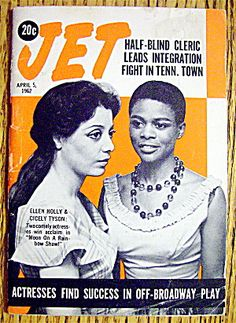 Jet Magazine, April 5, 1962. Ellen Holly & Cicely Tyson- two phenomenal actresses, both members of Delta Sigma Theta Oo-oop!