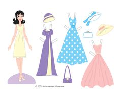 Dress Up Printable Dolls* 1500 free paper dolls at artist Arielle Gabriel's The International Paper Doll Society also free Asian paper dolls The China Adventures of Arielle Gabriel *