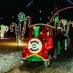 Where to go to see Christmas lights in Calgary: Bonfires, hot chocolate stations and miniature train rides—what's not to love about this annual event at Nose Creek Pond? Be sure to bring your skates; the pond is spectacular surrounded by the dazzling light displays. While admission to this colourful event is free, there are three brightly colored Toy Soldier Guard Houses around the park to accept donations.
