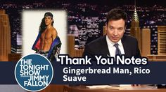 Thank You Notes: Gingerbread Man, Rico Suave Tonight Show, Jimmy Fallon, Thank You Notes, Hilarious, Funny, Negative Thoughts, Late Nights, Gingerbread Man, To My Future Husband