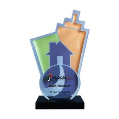 Logo Themed Years Of Service Award Custom Awards Corporate Awards Service Awards