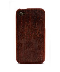 Firework Engraved Rosewood iPhone4/4s Wood Case