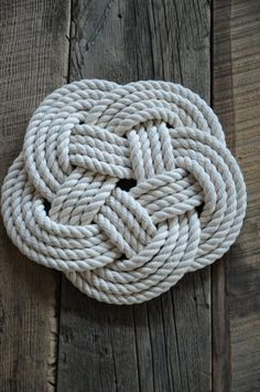 Nautical Cotton Rope Trivet  Nautical Decor  Nautical by OYKNOT, $30.00