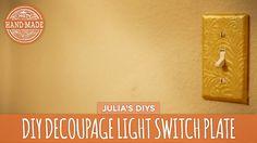 DIY Decoupage Light Switch Plates - HGTV Handmade