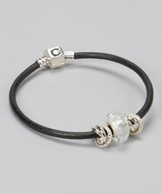 Another great find on #zulily! White & Sterling Silver Cracked Ice Bracelet #zulilyfinds