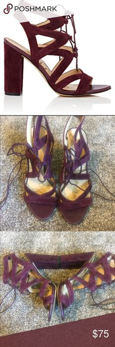 Sam Edelman Yardley size 7 Maroon. Suede and leather heel. Size 7. Worn several times Sam Edelman Shoes Sandals