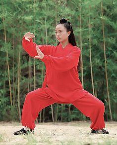 Daoist Uniform Red with Cuffs