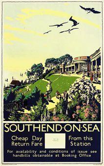Walter E. Spradbery (1889- 1969) SOUTHEND-ON-SEA lithograph in colours, 1929