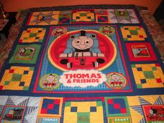 2nd Quilt for Nicholas, Thomas the Tank Engine for Nicholas, Nicholas love's Thomas so I made this quilt for him., Special Occasions Project