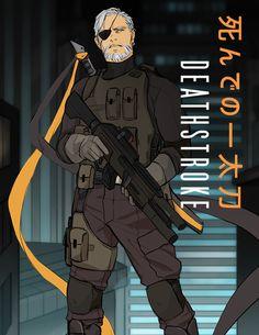 Comic Book Artists, Comic Book Characters, Comic Character, Comic Books, Dc Deathstroke, Deathstroke The Terminator, Deadpool Art, Batman Art, Batman Universe