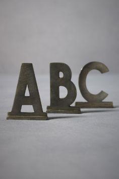 San Serif Zinc Letters