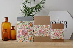 Gamme de carnets aux motifs floraux. Le Papier fait de la Résistance