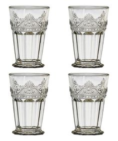 Loving this Clear Rococo Highball Glass - Set of Four on #zulily! #zulilyfinds