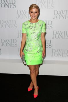 We are loving Emma Freedman's brights on brights outfit!