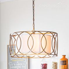 Wood beads painted crystals chandelier creative co op home metal frame drum shape chandelier creative co op home aloadofball Choice Image