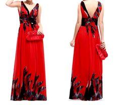Red Empire Waist Evening Gowns TheBestRedDress.com
