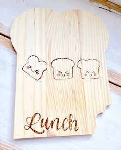 Broodplank #kawaii #food #kitchen #keuken #lunch #brood