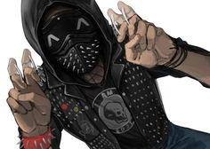 Wrench Watch Dogs 2, Watch Dogs 1, Cyberpunk Anime, Arte Cyberpunk, Angel Protector, Chibi, Character Art, Character Design, Cool Masks