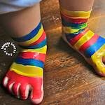 Fun and creative painting ideas for kids. (Adore those painted feet!)