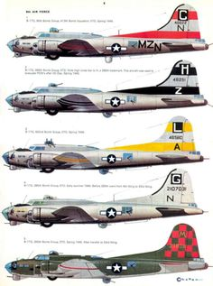 S14 USAAF Bomber Markings & Camo 1941-1945 Vol. 2 Page 27-960 Ww2 Aircraft, Fighter Aircraft, Military Aircraft, B 17, Scale Models, Aircraft Painting, Ww2 Planes, Nose Art, Military History
