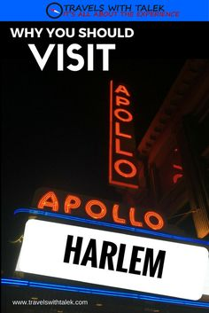 See entertainment venues and restaurants in Harlem.  Read more at www.travelswithtalek.com