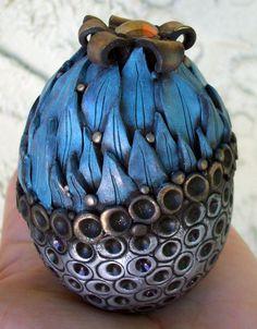 Pineapple Pod Polymer clay and Ceramic by MandarinMoon on Etsy, $40.00