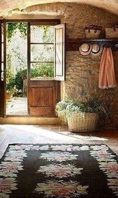 40 Minimalist Italian Countryside In Rural Decor For Your Living Room - Home French Cottage, French Country House, French Farmhouse, Cottage Style, Cozy Cottage, Country Living Room Rustic, Italian Country Decor, Rustic French, Modern Rustic