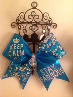 keep calm and stay fabulous cheerleading bow Cute Cheer Bows, Cheer Mom, Big Bows, Cheer Stuff, Dance Bows, Cheer Dance, Cheer Quotes, Cheerleading Bows, Cheer Coaches