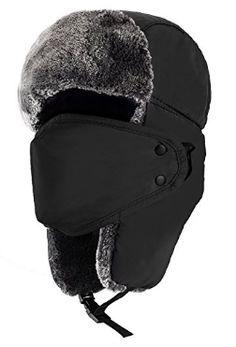 Mysuntown Unisex Winter Trooper Trapper Hat Trooper Hat 57971648b7f
